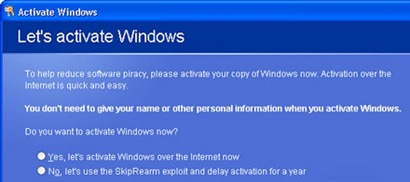 "Vista activation ""more an irritation to legit users than an antipiracy measure"""