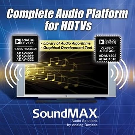 Analog Devices' SoundMax chips bring 5.1 to the TV speaker masses