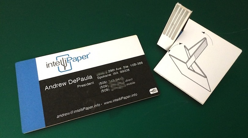 IntelliPaper SwivelCards: Business cards with brains