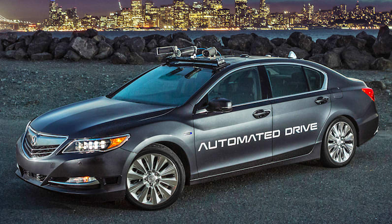 Acura introduces a sleeker self-driving test car