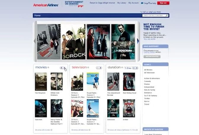 American Airlines rolls out in-flight Entertainment On Demand, lets you continue watching after you land