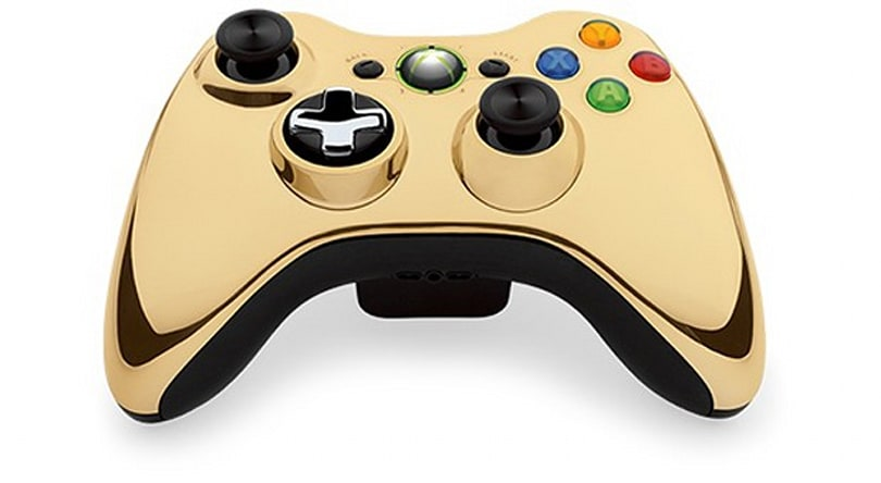 Microsoft preps standalone gold Xbox 360 controller, brings new glitz to old consoles