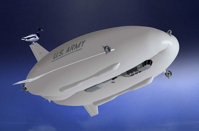 Army spy blimp to launch within weeks: 300 feet long, $500 million, 'multi-intelligent'