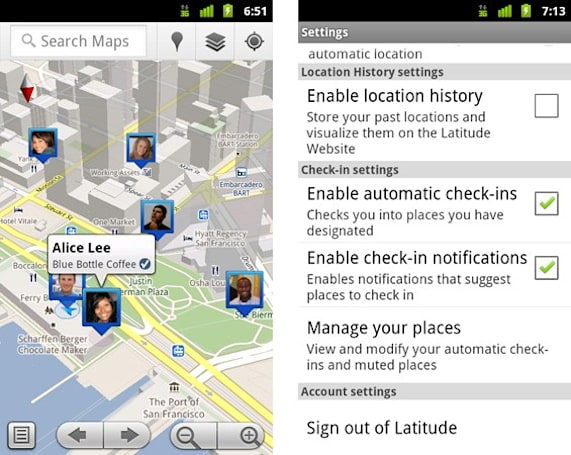 Google Latitude joins check-in game with Maps 5.1 for Android