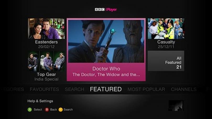 PSA: BBC iPlayer now available on 360 in the UK