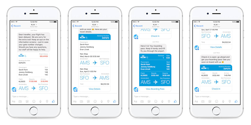 Facebook Messenger launches its first airline bot