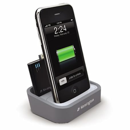 Kensington's iPhone / iPod charging dock throws a mini battery into the mix