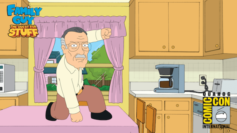 Family Guy the Quest for Stuff has a new cameo filled Comic Con-themed update