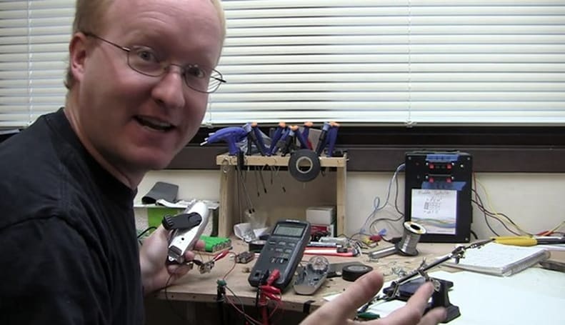 Hand-crank flashlight +soldering + Ben Heck = man-powered HTC EVO 4G charger