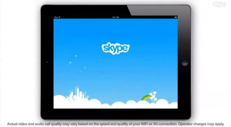 Skype for iPad leaked in promo video