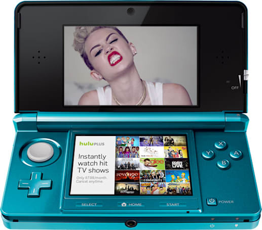 Now you can watch Miley Cyrus ruin SNL on your Nintendo 3DS with Hulu Plus