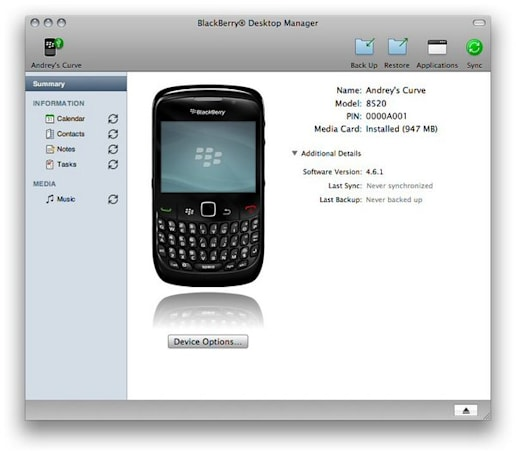 BlackBerry Desktop Manager for Mac releasing October 2