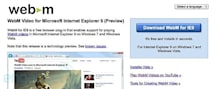 Internet Explorer 9 gets WebM support with 'preview' plug-in from Google, internet video gets more friendly