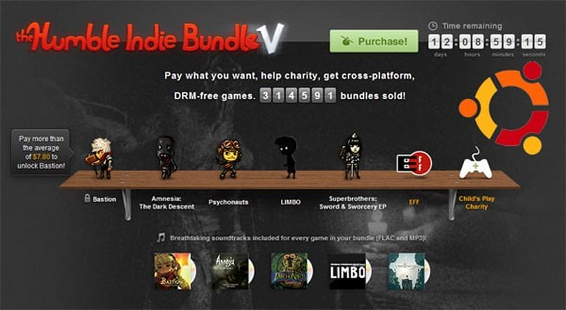 Canonical tag teams with Humble, wraps up Indie Bundle installation with bow (video)
