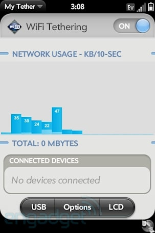 WebOS homebrew MyTether app updated, brings WiFi hotspots to Verizon Palms w/o the extra subscription