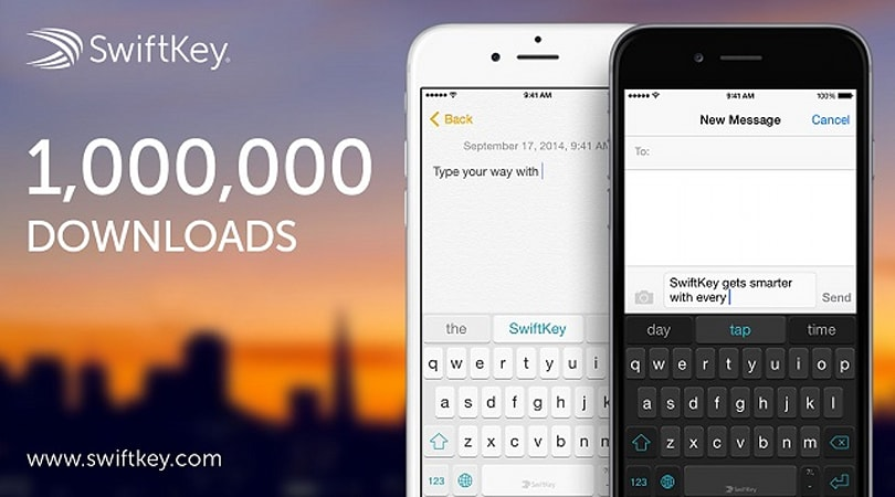 SwiftKey Keyboard app for iOS 8 tops 1 million downloads in less than 24 hours