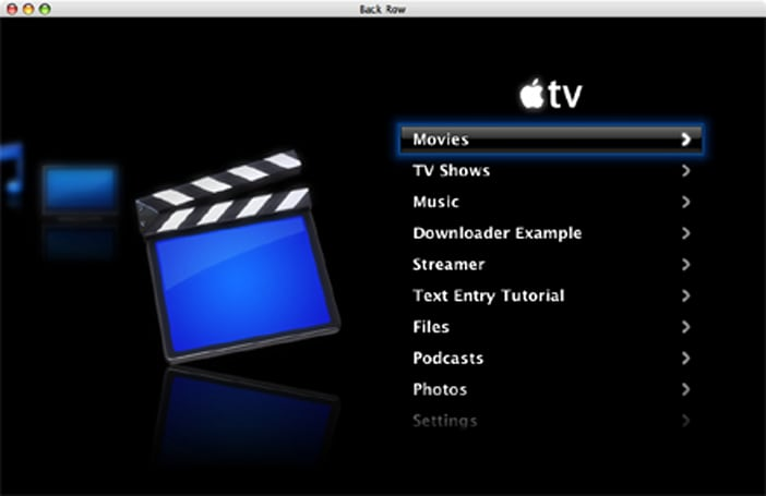 BackRow SDK unleashed for Apple TV