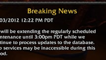 Server maintenance extended to 3:00 p.m. PDT