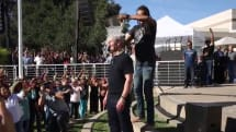 Tim Cook takes the ALS Ice Bucket Challenge, challenges Dr. Dre