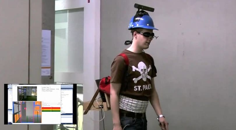 NAVI hack uses a Kinect to let the blind see, wear awesome headgear (video)