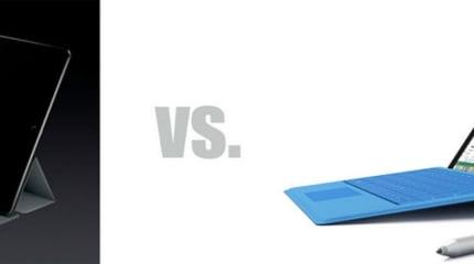 iPad ProとSurface Pro 3詳細比較。ハードは意外にも好勝負、今後のiOSとアプリの舵取りが課題に