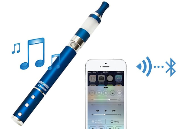 The Supersmoker Bluetooth pairs an electronic cigarette with a speakerphone