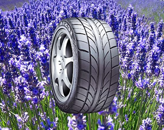 KUMHO ECSTA DX Aroma car tires roll out with lavender scent; don't ask why