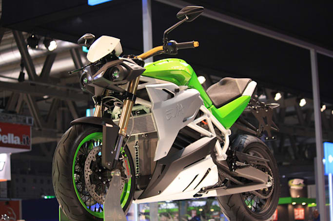 Energica Eva is a 'naked' electric superbike for the street