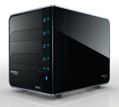 Promise's new SmartStor do-it-all NS4600 and easy-setup DS4300 make RAID 5 look easy