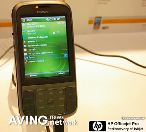Inventec's Windows Mobile 6-powered K871 shown at Computex