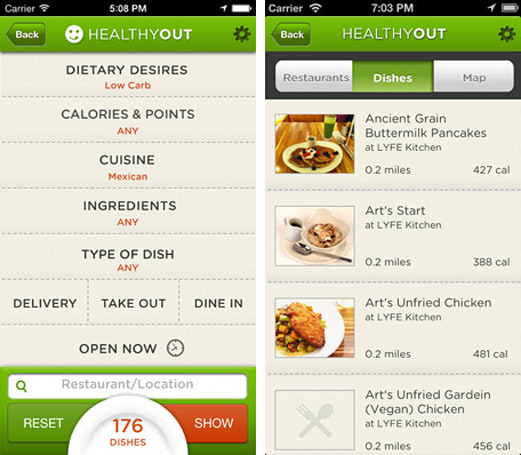 Daily App: HealthyOut helps you find nutritious meals when dining out