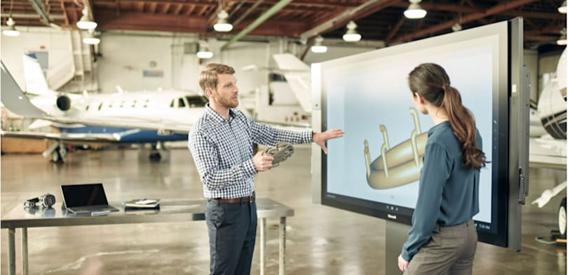 Microsoft's gigantic Surface Hub pen display is finally shipping
