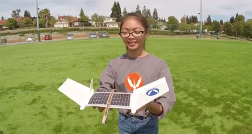 Volta Flyer is a solar-powered build-it-yourself toy plane