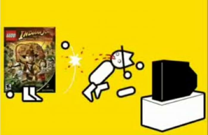 Zero Punctuation whips it good with Lego Indy