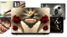 Toshiba Natural Selection laptops get celebrity paintjobs, good causes