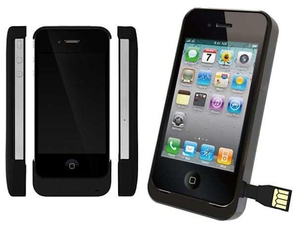 Aigo's iPhone 4 battery case internalizes your charge cable, InCase Snap Battery lightens the load