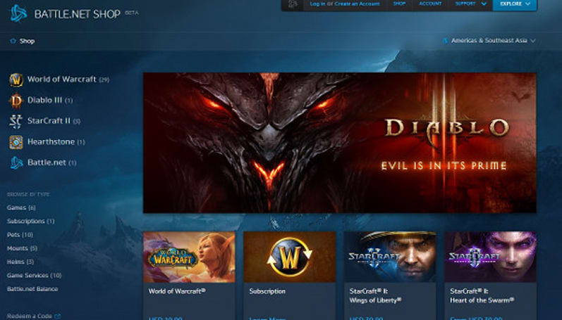 Battle.net store gets a massive makeover