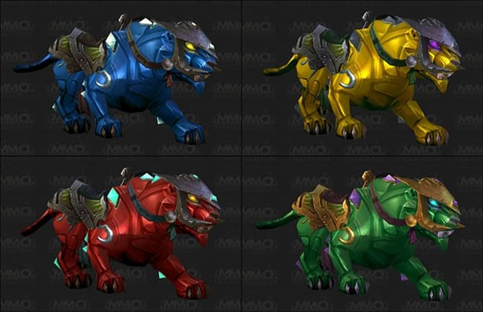 Mists of Pandaria Beta: New jewelcrafting panther mount models