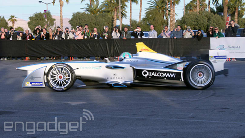 Formula E's Spark-Renault SRT_01E electric racer makes its official public debut in Las Vegas