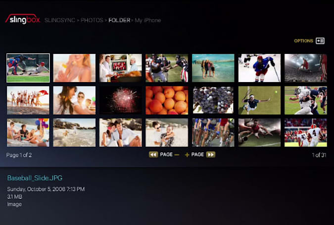 Slingbox 500 firmware update adds SlingSync support for remote photo viewing and USB drive uploads