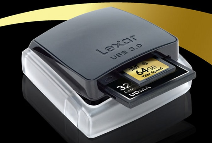 Lexar dual-slot CF / SD reader packs USB 3.0, downloads cards six times faster (video)