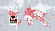 Mapping project catalogs Instagram sunrises from around the world