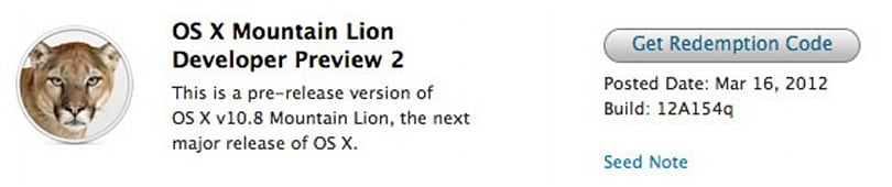 Mountain Lion Developer Preview 2 hits Apple's Developer website, brings more roar to your Friday