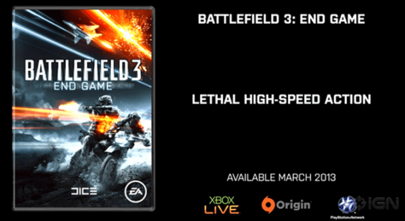 Battlefield 3's End Game to include deadly motorcycles, vs. Armored Kill's tanks