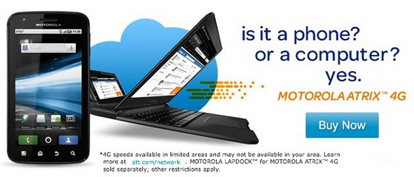 AT&T Motorola Atrix 4G now on sale, $149.99 at Amazon or RadioShack (update: $129.99 at Walmart)