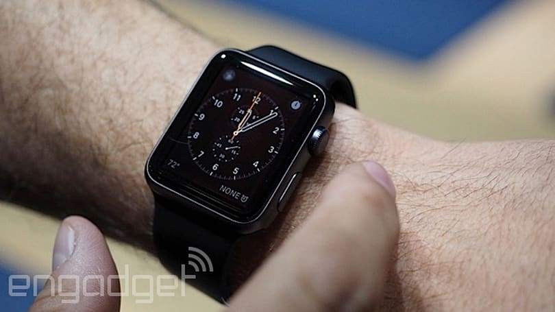 The Apple Watch has a low-power mode that only tells the time