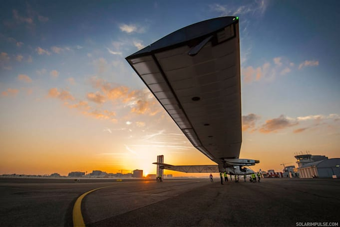 Watch this solar-powered plane attempt to fly around the world