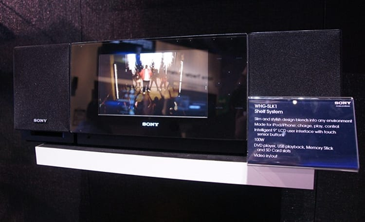 Sony WHG-SLK1 iPod shelf system surfaces at CES