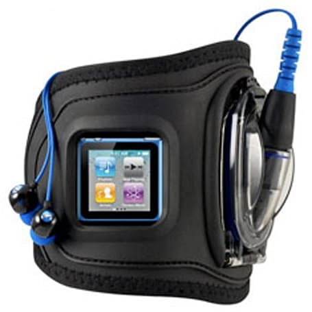 H2O Audio's Amphibx Grip waterproof armband keeps your new iPod nano, shuffle dry