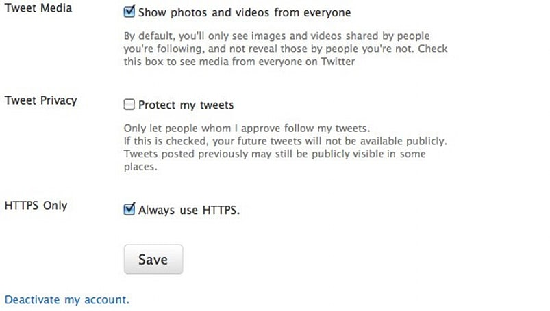 Twitter adds 'Always use HTTPS' option, makes cyberterrorists FOF